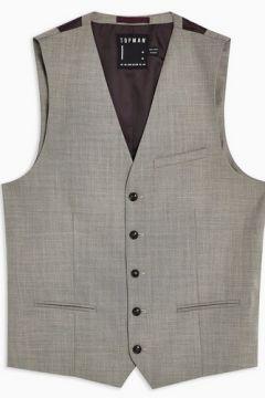 GRIS DÉLAVÉ Gilet de costume gris chiné(110404981)