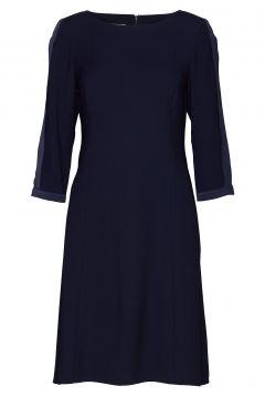 Dress Woven Fabric Kleid Knielang Blau GERRY WEBER(114165026)
