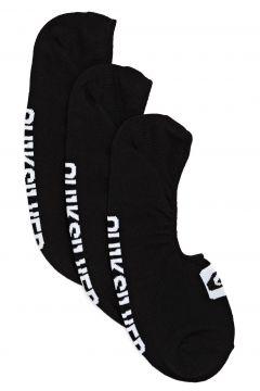 Fashion Socks Quiksilver 3 Pack Liner - Black(115690218)