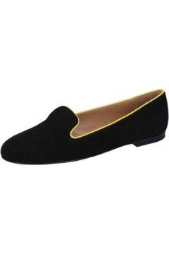 Chaussures Bally mocassins noir daim jaune BY03(88522544)