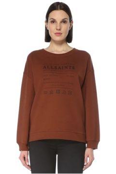 Allsaints Kadın Bisiklet Yaka Logolu Sweatshirt S EU(126795811)