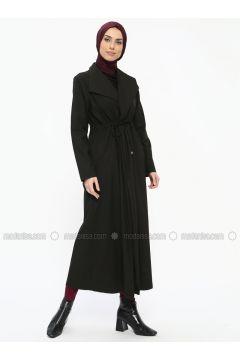 Black - Unlined - Shawl Collar - Topcoat - Tavin(110326834)