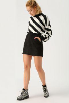 Vero Moda Siyah Mini Etek(113987287)