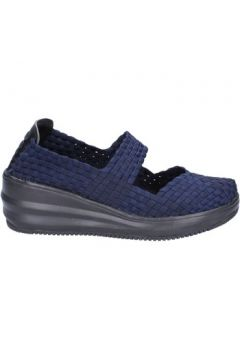 Chaussures Cristin ballerines bleu textile BX630(98484035)
