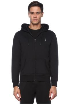 Polo Ralph Lauren Erkek Siyah Kapüşonlu Logo İşlemeli Sweatshirt S EU(121108330)