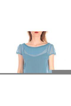 T-shirt Aggabarti t-shirt voile121072 bleu(127874785)