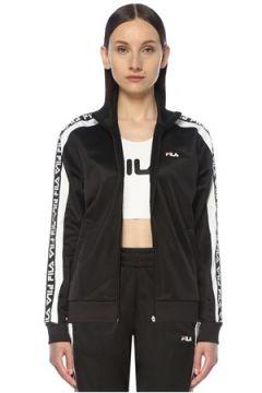 Fila Kadın Siyah Beyaz Dik Yaka Logolu Ceket M EU(114438309)