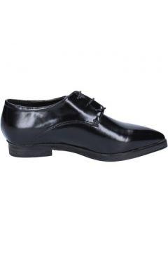 Chaussures Francescomilano élégantes noir cuir BX328(115442525)