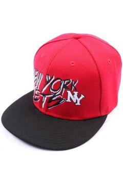 Casquette Hip Hop Honour Casquette fitted rouge et visière noire(115396359)