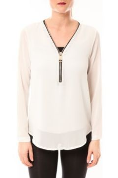 Blouses Vera Lucy Chemisier Simple Blanc(115665907)