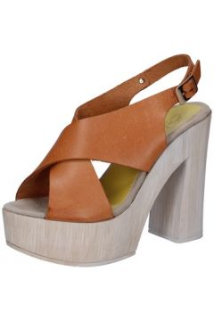 Sandales Suky Brand sandales marron cuir AB310(115490572)