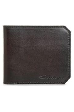 Santoni Erkek Kahverengi Logolu Deri Cüzdan EU(125116172)