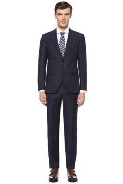 Pal Zileri Erkek Drop 7 Lacivert Dokulu Yün Takım Elbise 52 IT(108515951)