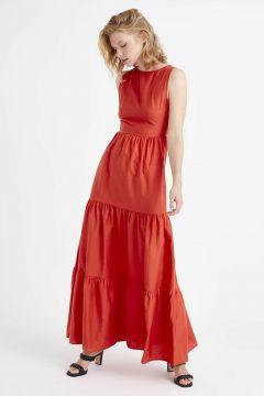 Kadın Düz Kesim Uzun Elbise(126604042)