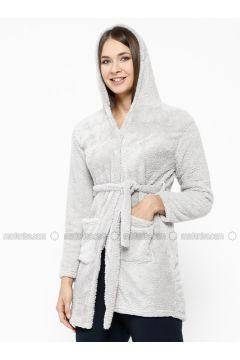 Gray - Morning Robe - Elitol(110316488)