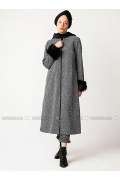 Black - White - Multi - Fully Lined - Crew neck - Cotton - Topcoat - Meryem Acar(110327084)