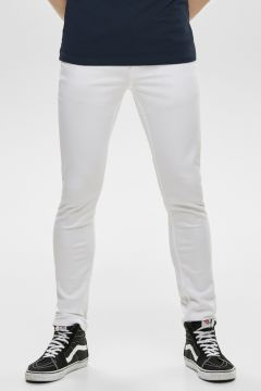 Only & Sons Slim Fit Beyaz Denim Pantolon(123422099)