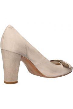 Chaussures escarpins Carmens Padova escarpins beige cuir suédé AF52(115393362)