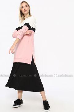 Cotton - Crew neck - Powder - Sweat-shirt - Missemramiss(110330927)