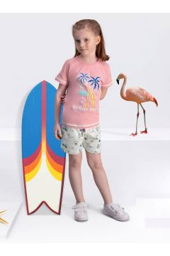 Arnetta Arnetta Sunny Days Sarı Kız Çocuk Şort Takım(119156482)