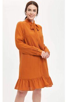 DeFacto Kadın Fular Yaka Dokuma Elbise(125921953)