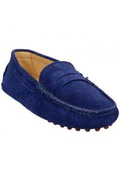 Chaussures Bobbies Mocassins La Parisienne Bleu(115504397)