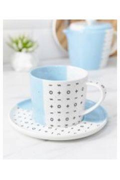 Root 7 - Tazza da tè e piattino blu intenso - Multicolore(95037333)