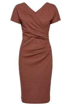Ava Ecovero Dress Kleid Knielang Rot RESIDUS(114164570)
