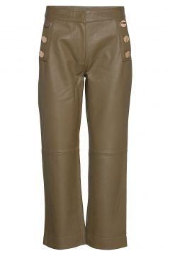 Day Scilla Leather Leggings/Hosen Grün DAY BIRGER ET MIKKELSEN(116469721)