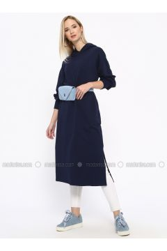 Navy Blue - Cotton - Tunic - Missemramiss(110330952)