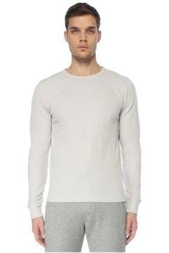 Bassigue Erkek Antartica Gri Waffle Dokulu Sweatshirt S EU(125279115)