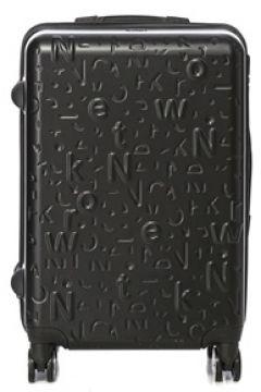Network Erkek Siyah Logo Detaylı Büyük Boy Valiz EU(113803395)