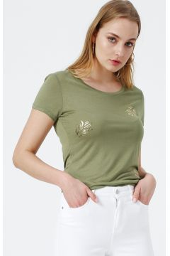 Beymen Studio Bisiklet Yaka Yeşil T-Shirt(122622318)
