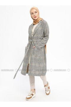 Minc - Multi - Unlined - Shawl Collar - Topcoat - İLMEK TRİKO(110329223)