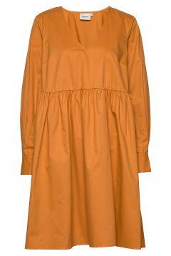Stellagz Solid Dress Ms20 Kleid Knielang Gelb GESTUZ(109243141)