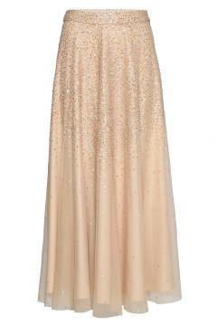 Piana Long Sequin Skirt Langes Kleid Beige ANDIATA(114164006)