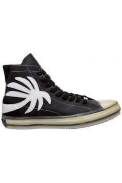 Men's shoes high top leather trainers sneakers vulcanized(119232271)