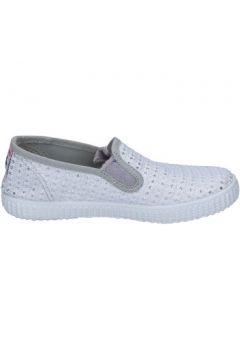 Chaussures Cienta slip on blanc textile argent profumate BX350(98483918)