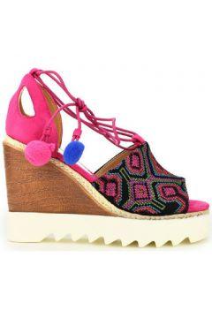 Sandales Cendriyon Compensées Fushia Chaussures Femme(115422442)