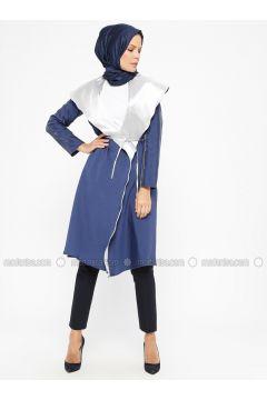 Indigo - Unlined - Shawl Collar - Topcoat - ModaNaz(110315005)