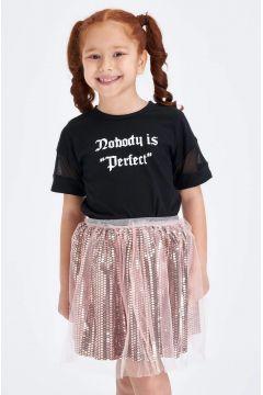 DeFacto Kız Çocuk Pullu Tül Detaylı Kısa Etek(119064772)