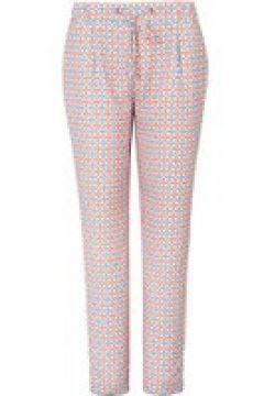 Knöchellange Joggpant mit Allover-Muster Basler offwhite multicolour(116400436)