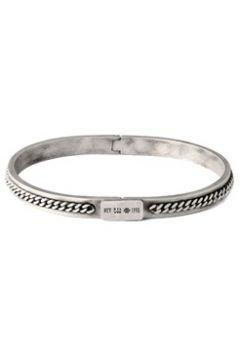 Tateossian Erkek Silver İşlemeli Gümüş Rengi Bilezik Gri L EU(118059066)