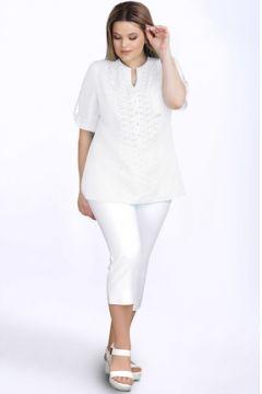 Блузка LeNata 12895N белый(115246359)