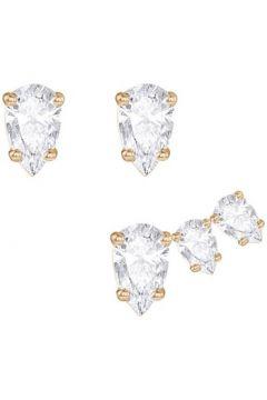 Boucles oreilles Swarovski Puces en Métal Doré et Cristal Blanc Femme(115492789)