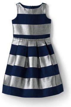 Festliches Kleid mit Glanzstreifen für kleine Mädchen - Metallic - 110/116 von Lands\' End(111006740)
