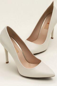 Elle Shoes MELISA-1 Hakiki Deri Bej Kadın Topuklu Ayakkabı(108938630)