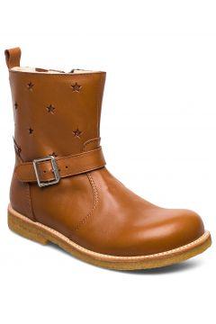 Boots - Flat - With Zipper Stiefel Halbstiefel Braun ANGULUS(114159651)