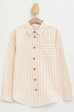 DeFacto Kız Çocuk Çizgili Uzun Kollu Gömlek(108988420)