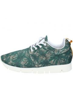 Chaussures Leather Crown LEATHER sneakers vert textile AJ999(115400289)